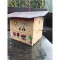 Isla made a bird box!