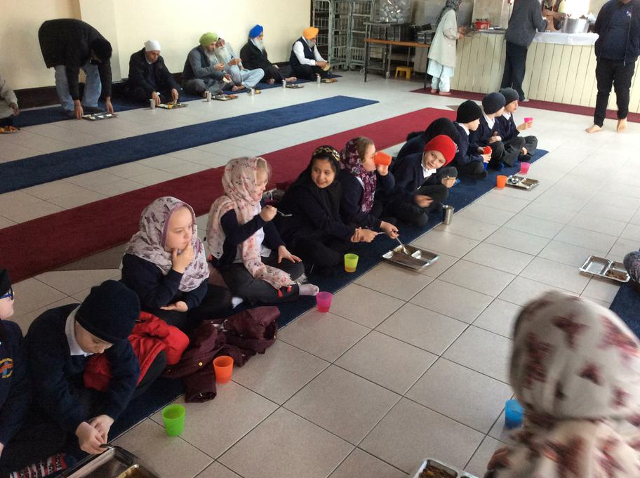 We tried some new foods in the Langar