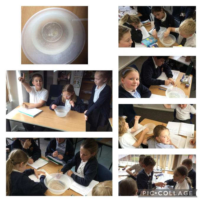 We did an experiment to see whether the water evaporates and leaves the salt behind.
