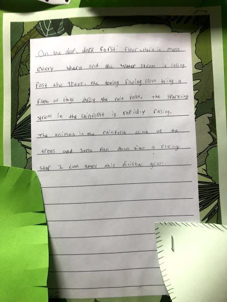 Maci has developed her fronted adverbials!