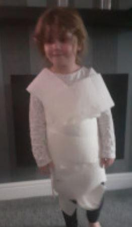 Amelia made a lovely outfit!