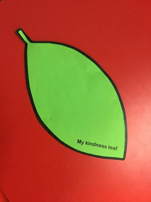 An example of a kindness leaf