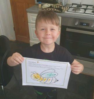Kaylum decorated his own 'Bee Like Me'.