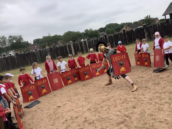 We were taught about Roman Battles