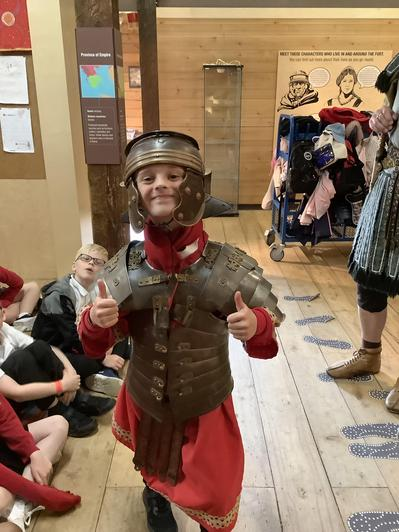We really enjoyed wearing the armour