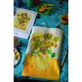 Lana's sunflower artwork inspired by Van Gogh