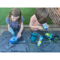 Hunter tie dying t shirts