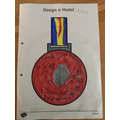 Betsy's design of a medal
