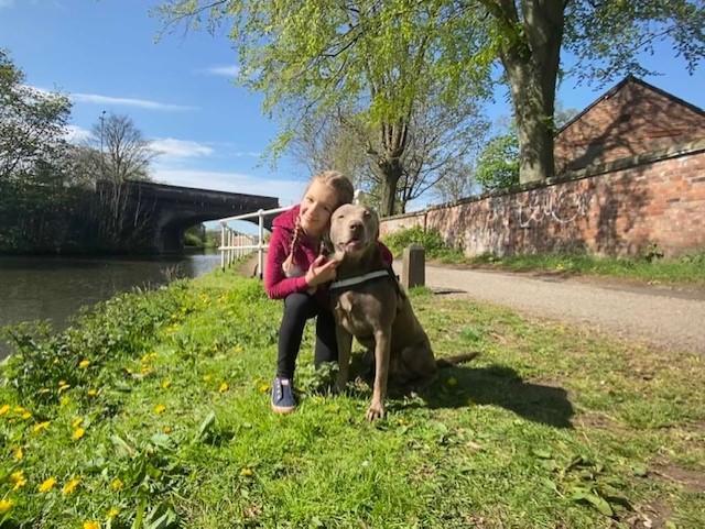 Sofia with her dog