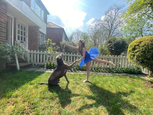 Sofia and her dog