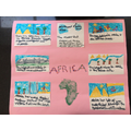 Lola's colourful Africa poster