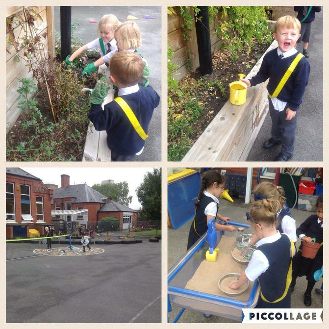 Reception love learning outdoors