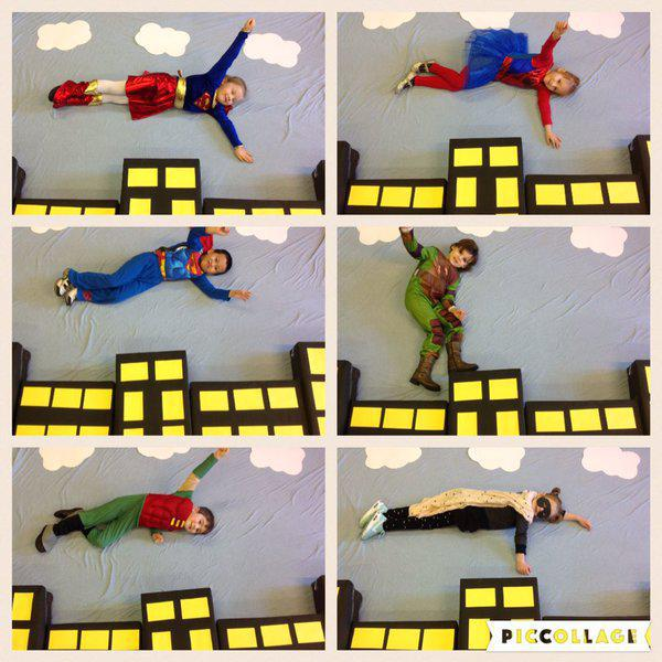 Reception are flying Superheroes