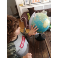 Quinn learning about Continents