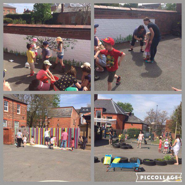 PTA Grounds Day - Enhancing our Reception Outdoors