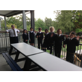 5 Newton enjoying the fresh air on their classroom balcony!