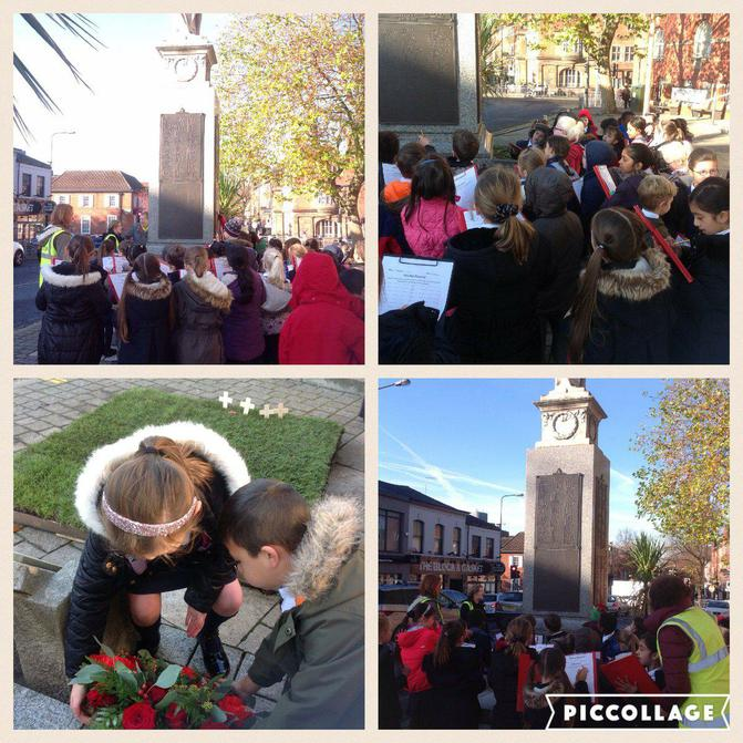 Y2 lead Remembrance Day at Sale Town Hall