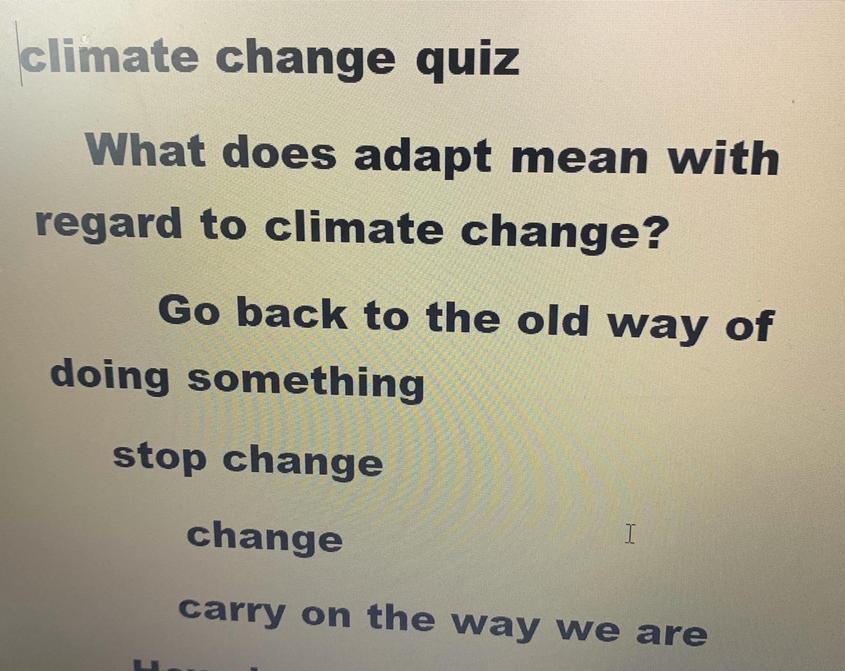 Alfie's Climate Change