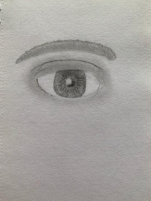 Rebecca Sketching Eyes