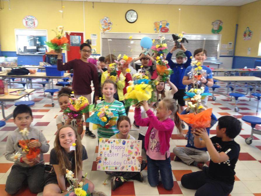 We made wonderful Easter bouquets!