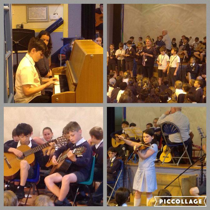 Our Musicians perform in Assembly