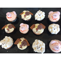 Sheep, pigs and puppies baked and decorated by Lola