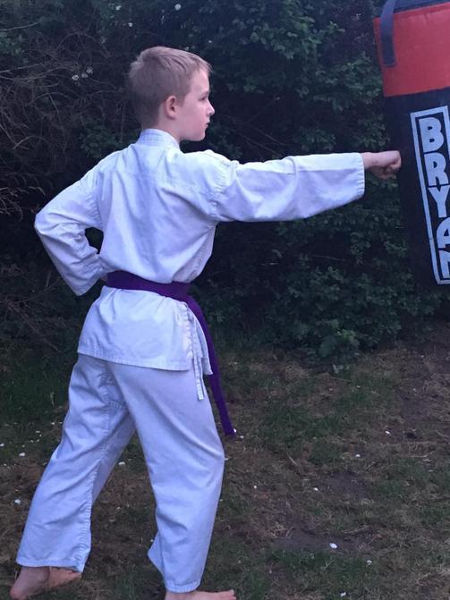 James Practising Karate