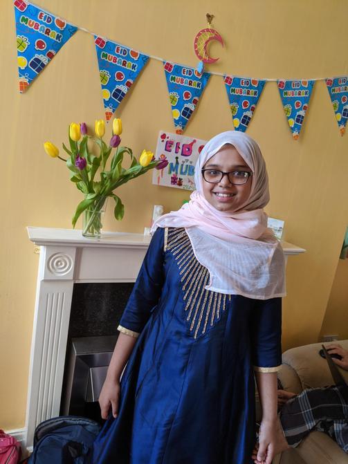 Aamira celebrating Eid