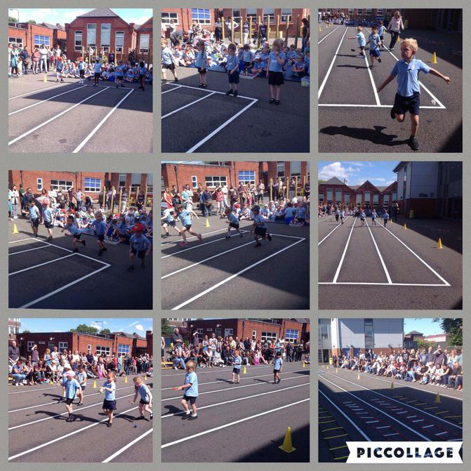 Reception held their Sports Morning at school