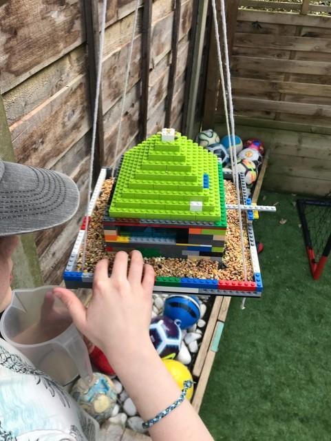 Jake's Lego Bird feeder