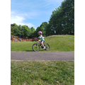 Lyla enjoying a bike ride