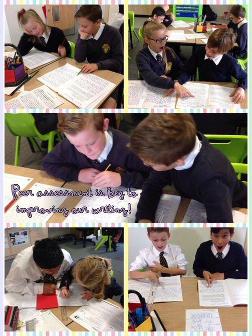 Y6 Peer Assess their writing