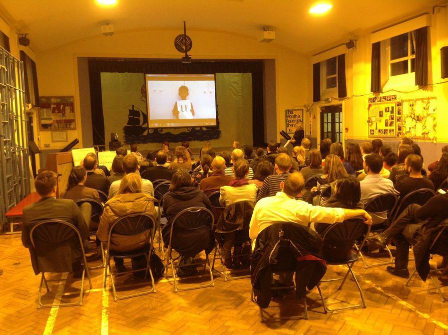 Reception parents attend a reading workshop