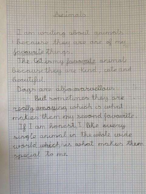Sofia's Handwriting Practise