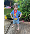 Jet with his huge medals for VE day
