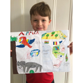 James has really enjoyed making his Africa poster