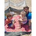 Quinn enjoying the sunshine with family