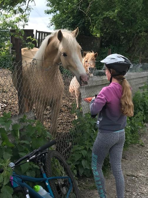 Elena with Blondie the horse