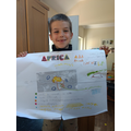 Cipriano's presenting poster on Africa