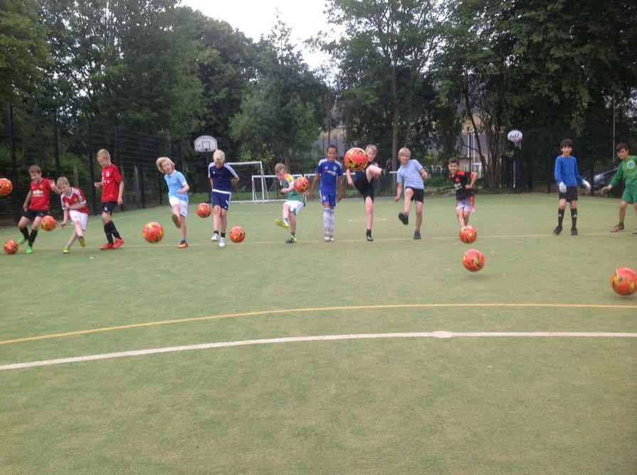 Fun at Football training
