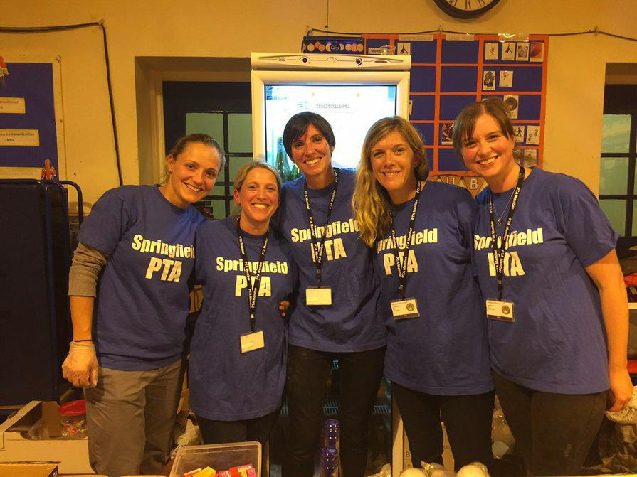 The PTA Team support the welcome party
