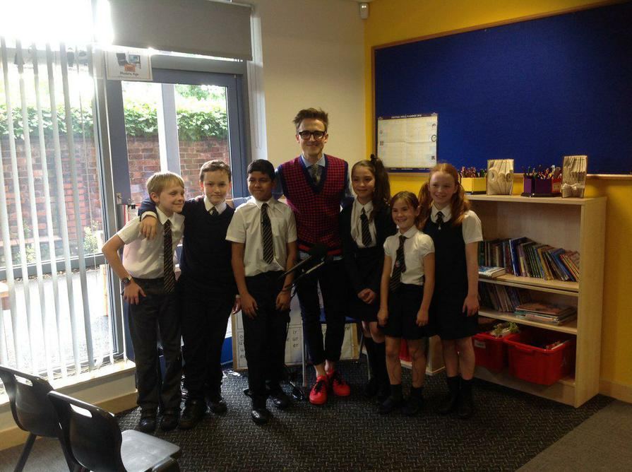Tom Fletcher launches his new book at Springfield