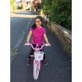 Krithi enjoying a bike ride