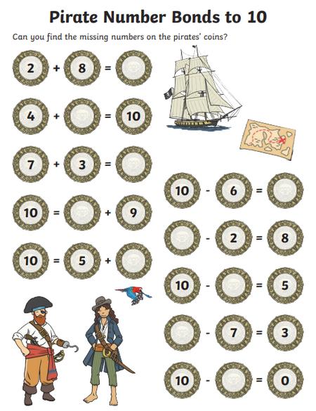 Pirate worksheet 1
