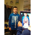 We used iPads to scan our bodies!