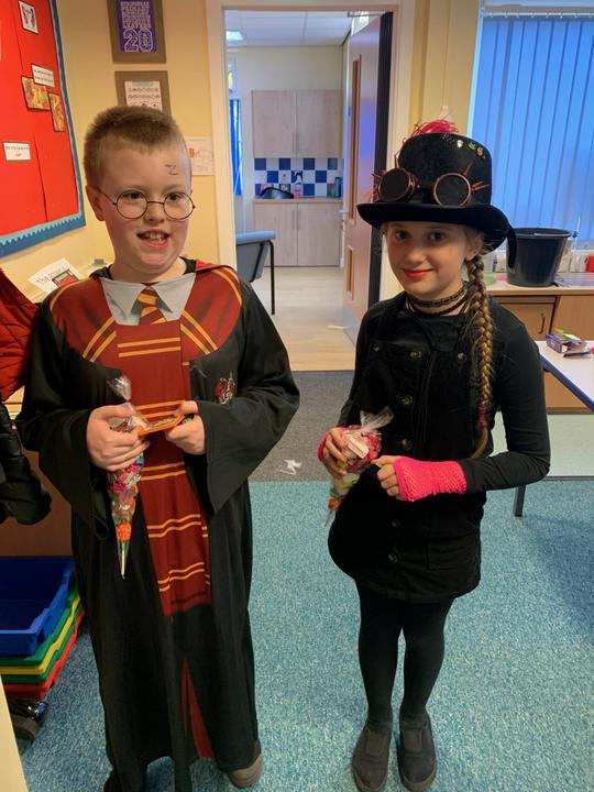 Kai and Macy won the best costume award!