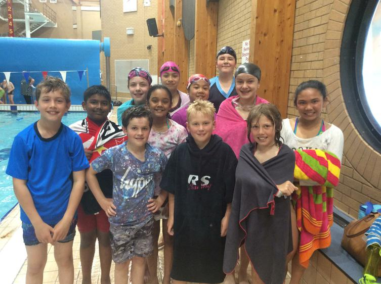 Swimmers after their races