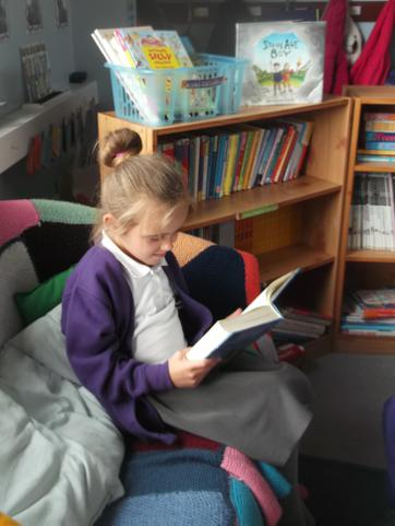 We like our comfy reading area!