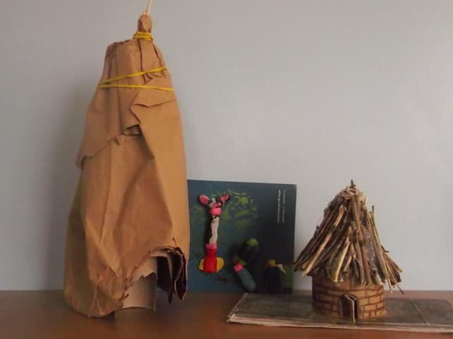 Models of Mesolithic and Neolithic homes