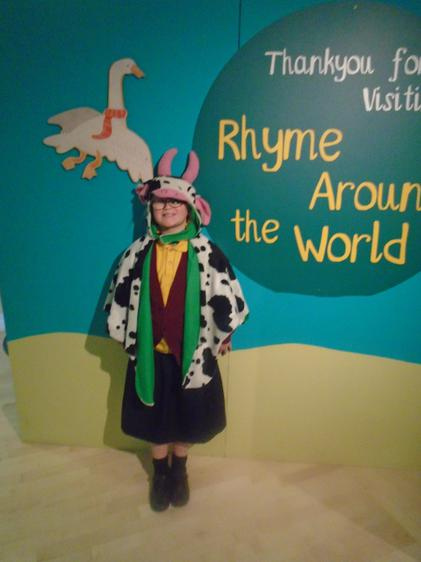 Katie enjoyed dressing up as a cow!
